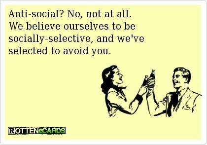 Anti-social?